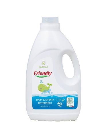 Friendly Organic, Płyn do prania ubranek dziecięcych, 2L, Mydło Marsylskie