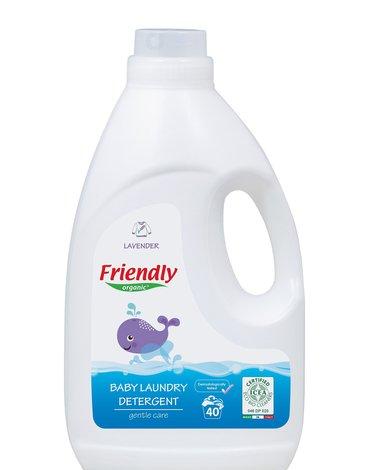 Friendly Organic, Płyn do prania ubranek dziecięcych, 2L, Lawenda