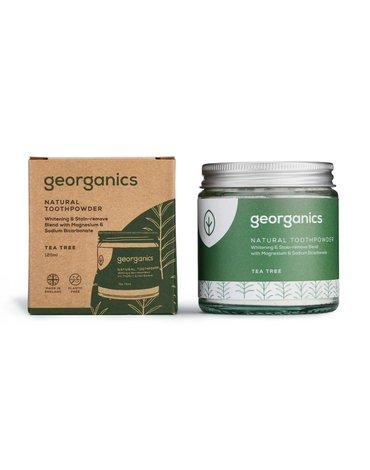 Georganics, Proszek do czyszczenia zębów, Tea Tree, 120 ml