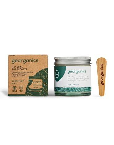 Georganics, Mineralna pasta do zębów w słoiku Spearmint, 60ml