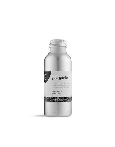 Georganics, Olej do płukania ust, Activated Charcoal, 100 ml