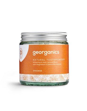 Georganics, Proszek do czyszczenia zębów, Orange, 120 ml