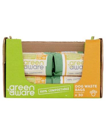 GreenAware, Kompostowalne worki na psie odpady, 30 szt. x 40 KARTON