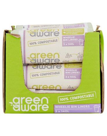 GreenAware, Kompostowalne worki na odpady spożywcze, 140L, 3 szt. x 20 KARTON