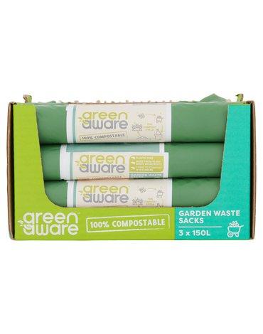 GreenAware, Kompostowalne worki na odpady ogrodowe 150L, 3 szt. x 20 KARTON