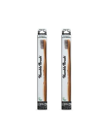 Humble Brush, Bambusowa szczoteczka do zębów dla dorosłych z włóknem węglowym, CHARCOAL