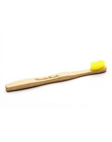 Humble Brush, Bambusowa szczoteczka do zębów dla dzieci, UltraSoft, żółta