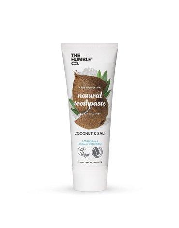 Humble Brush, Naturalna pasta do zębów kokosowa z solą morską z fluorem, COCONUT & SALT, 75ml