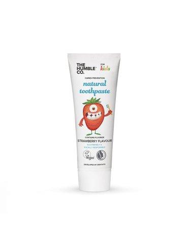 Humble Brush, Truskawkowa pasta do zębów z fluorem dla dzieci, KIDS STRAWBERRY, 75ml