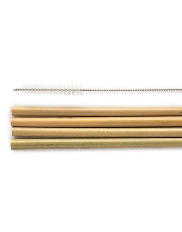 Humble brush, Słomka Bambusowa ze szczotką do czyszczenia ze stali nierdzewnej