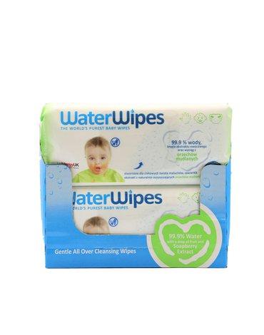 WaterWipes, Chusteczki nasączane czystą wodą, Soapberry, 60sztx12., KARTON PL