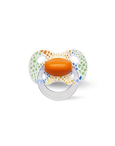 Bibi Swiss - Smoczek ortodontyczny uspokajający WILD BABY/pomarańczowy (SIL) HAPPINESS