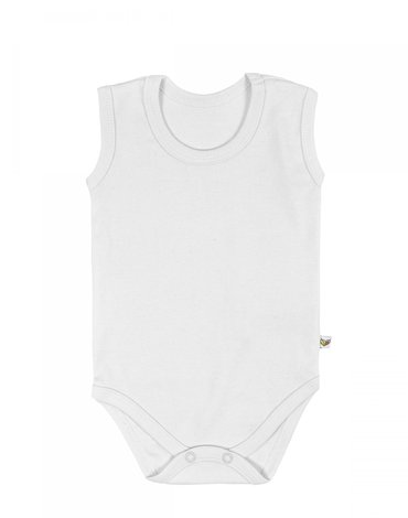 Nanaf Organic, BASIC, Body na ramiączkach, białe