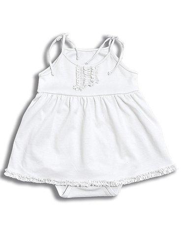Nanaf Organic, RETRO, Sukienka-body, biała  Ostatni raz w ofercie!