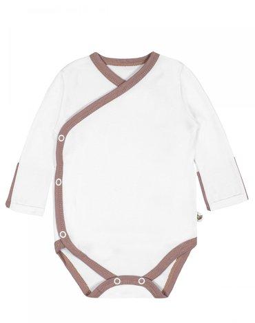 Nanaf Organic, VINTAGE ROSE, Body kimono z długim rękaw białe