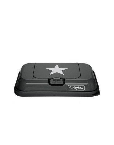 Funkybox - Pojemnik na Chusteczki To Go, Dark Grey White Star