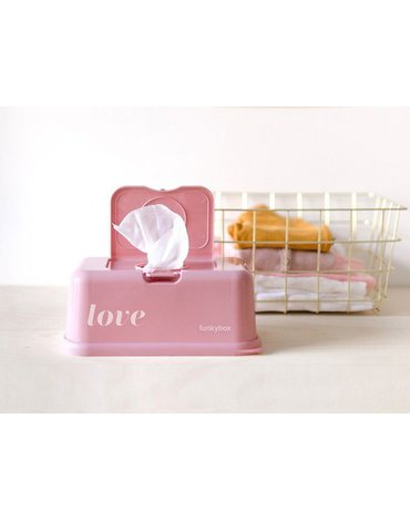 Funkybox - Pojemnik na Chusteczki, Vintage Pink Love