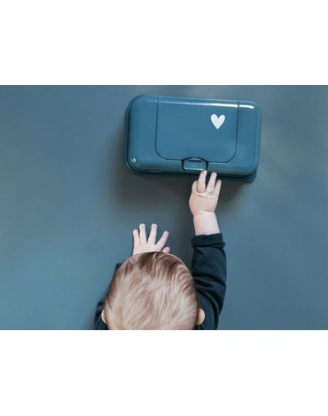 Funkybox - Pojemnik na Chusteczki, Petrol Little Heart