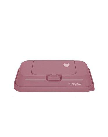 Funkybox - Pojemnik na Chusteczki To Go, Punch Pink Little Heart