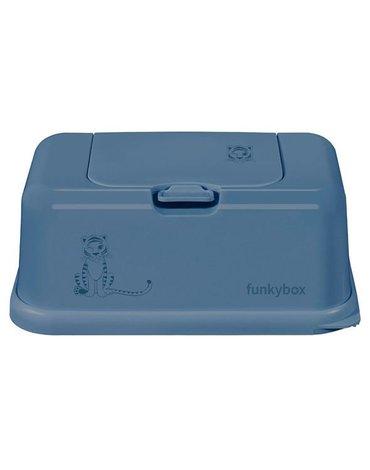 Funkybox - Pojemnik na Chusteczki, Jeans Blue Tiger