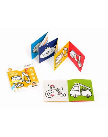 CzuCzu 6598584 Książeczka edukacyjna Pojazdy. Koloruję 2+