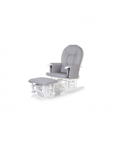 Childhome Fotel pływający zaokrąglony z podnóżkiem White/Grey