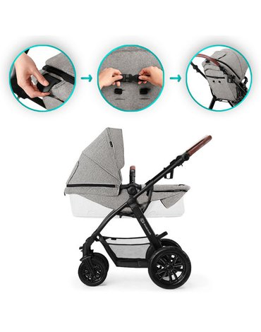 Kinderkraft Wózek Wielofunkcyjny 3w1 XMOOV Grey
