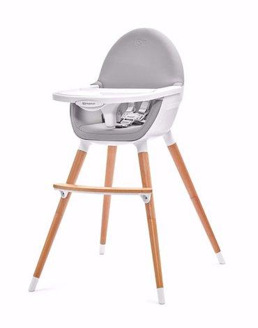 Kinderkraft Krzesełko Do Karmienia 2w1 FINI Gray