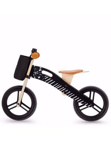 Kinderkraft Rowerek Biegowy Runner Vintage Black Z Akcesoriami