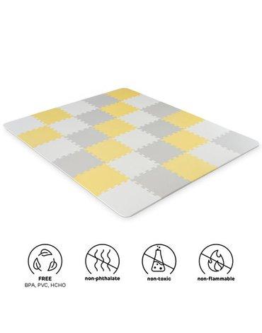 Kinderkraft Mata Piankowa Puzzle LUNO Yellow