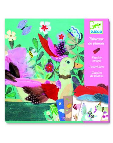 Djeco - Zestaw artystyczny z piórkami CHIC DUVETS DJ09405
