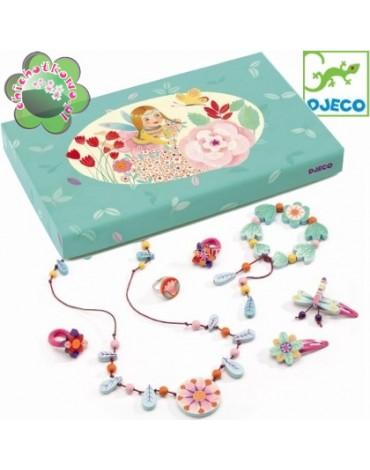 Djeco - Zestaw drewnianej biżuterii RAJSKI OGRÓD DJ06572