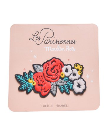 Moulin Roty - Wyszywana łatka  - kwiatek 642550
