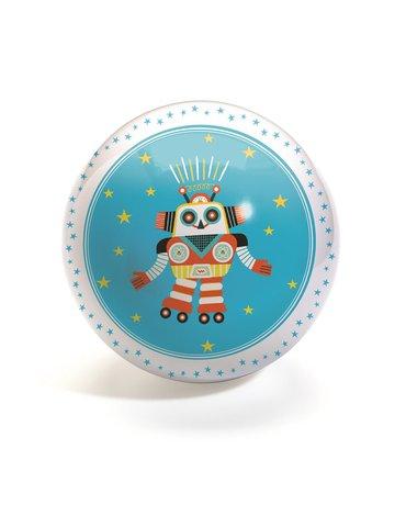 Djeco - Piłka gumowa ROBOT - 12 cm DJ00103