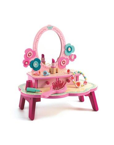 Djeco - Drewniana toaletka - różowa DJ06553