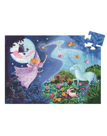Djeco - Puzzle w pudełku - Wróżka i jednorożec DJ07225