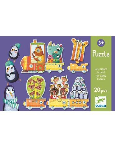 Djeco - Puzzle Pociąg - nauka liczenia DJ08150