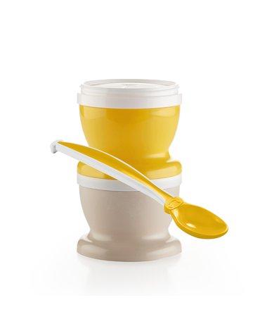 Pojemniki na jedzenie z łyżeczką Thermobaby; żółte