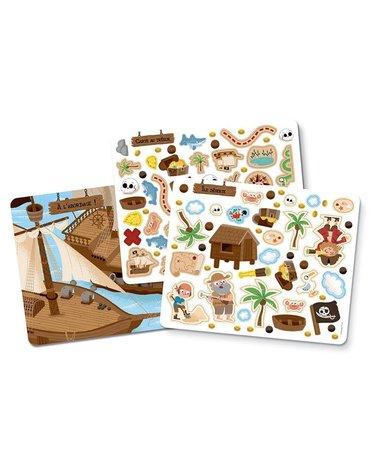 Auzou  Zestaw naklejek i dekoracji i Piraci 180 szt. 76961