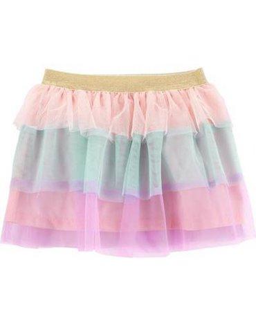 Carter's - Tęczowa spódnica z tiulu - 110 cm