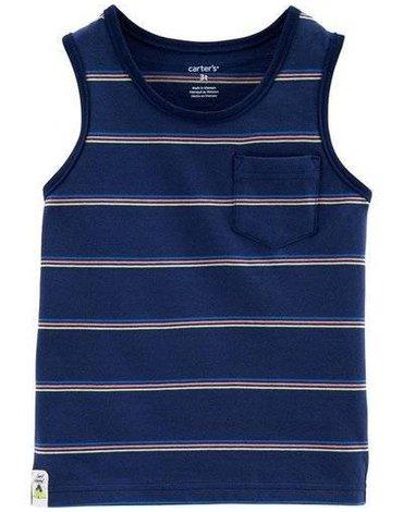 Carter's - Koszulka bez rękawów w paski - 98 cm