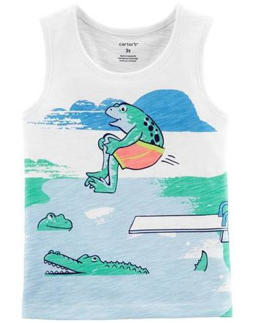 Carter's - Koszulka bez rękawów Ryba - 104 cm