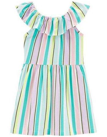 Carter's - Sukienka bez rękawów w paski - 98 cm