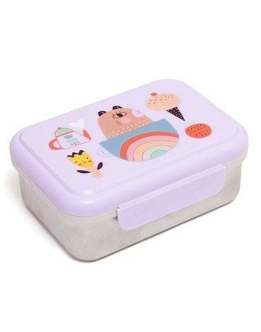 Petit Monkey - Śniadaniówka Lunchbox ze szlachetnej stali nierdzewnej Apple of My Eye