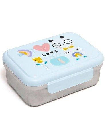 Petit Monkey - Śniadaniówka Lunchbox ze szlachetnej stali nierdzewnej Panda LOVE
