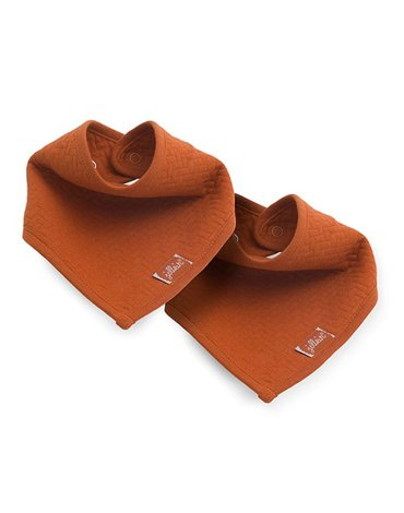 Jollein - Baby & Kids - Jollein - 2 śliniaki bandany Brick Velvet Rust