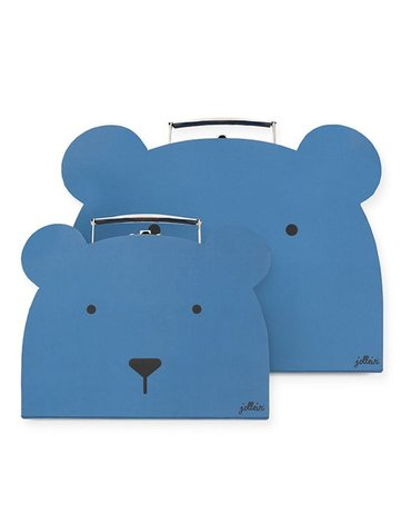 Jollein - Baby & Kids - Jollein - 2 walizeczki Animal Club Steel Blue