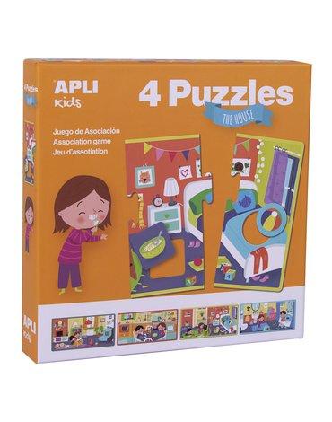 Puzzle 4 układanki Apli Kids - W domu 3+