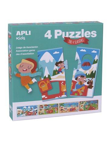 Puzzle 4 układanki Apli Kids - Cztery pory roku 3+