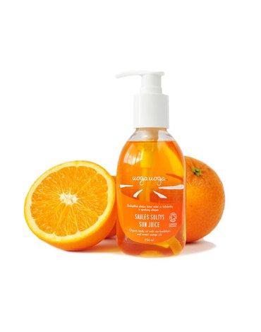UOGA UOGA - UogaUoga, Organiczny olejek do ciała z rokitnikiem i olejkiem ze słodkiej pomarańczy, 250ml